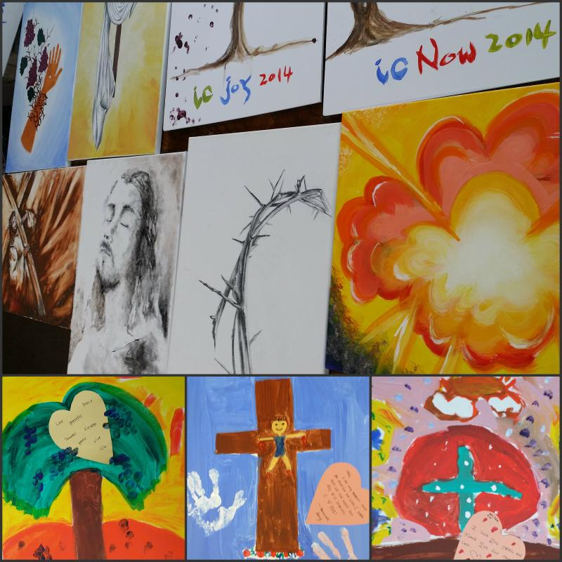 <p>OUR SISTERS AND BROTHERS FROM CORAM DEO ALSO PAINTED TOGETHER FOR EASTER SERVICE!</p>