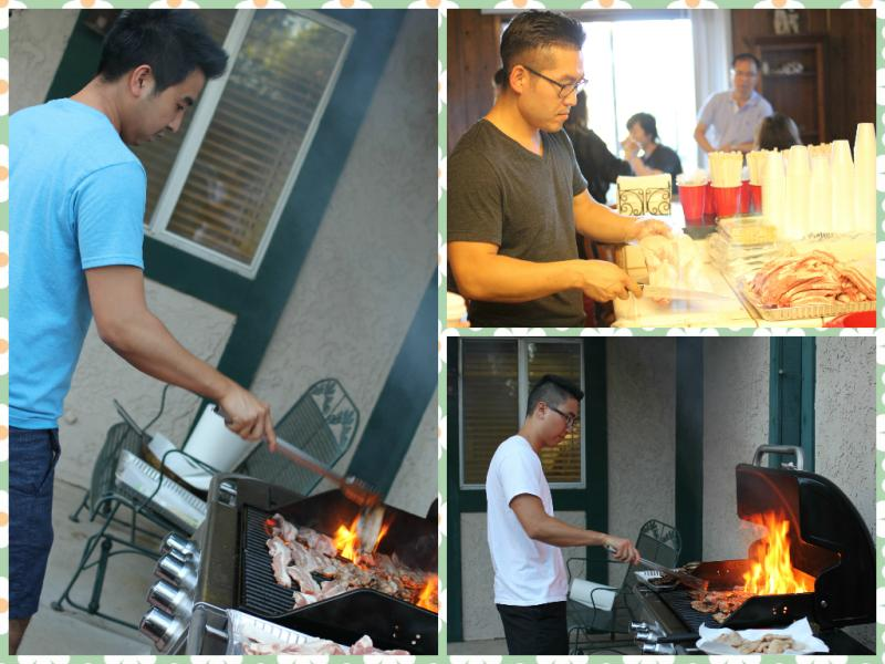 "<p>We grilled some awesome pork belly (""sam gyup sal"")!</p>"