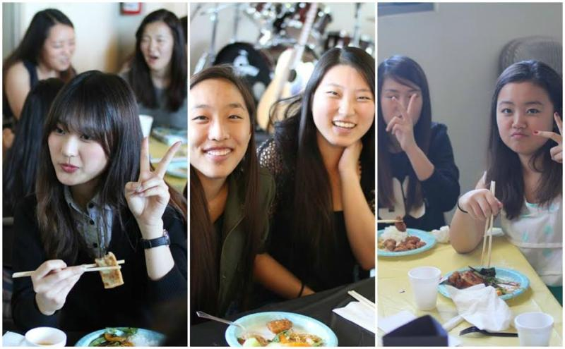 <p>We got to know one another by getting into tables by birthdays and fellowshipping over awesome food!</p>