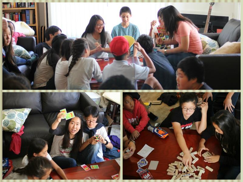<p>We began our hangout with some fun board games!</p>