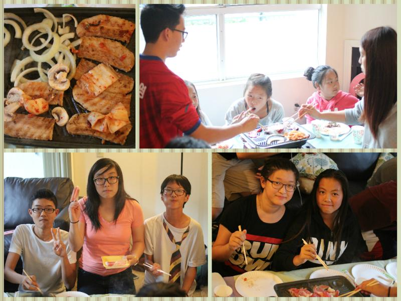 <p>One of the best parts was that our small group leaders served the middle school students by preparing and cooking the dinner for us!</p>