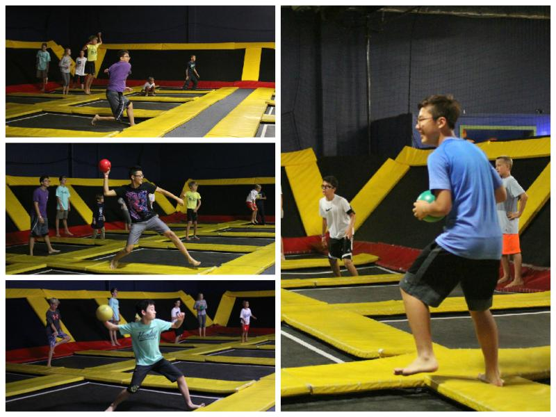 <p>Time for some trampoline dodgeball!</p>