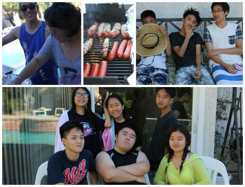 <p>Then it was time to eat. We had some awesome, bacon-wrapped hot dogs and hamburgers! </p>