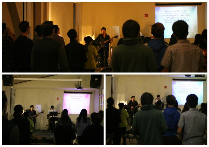 <p>We started the night with awesome praise!</p>
