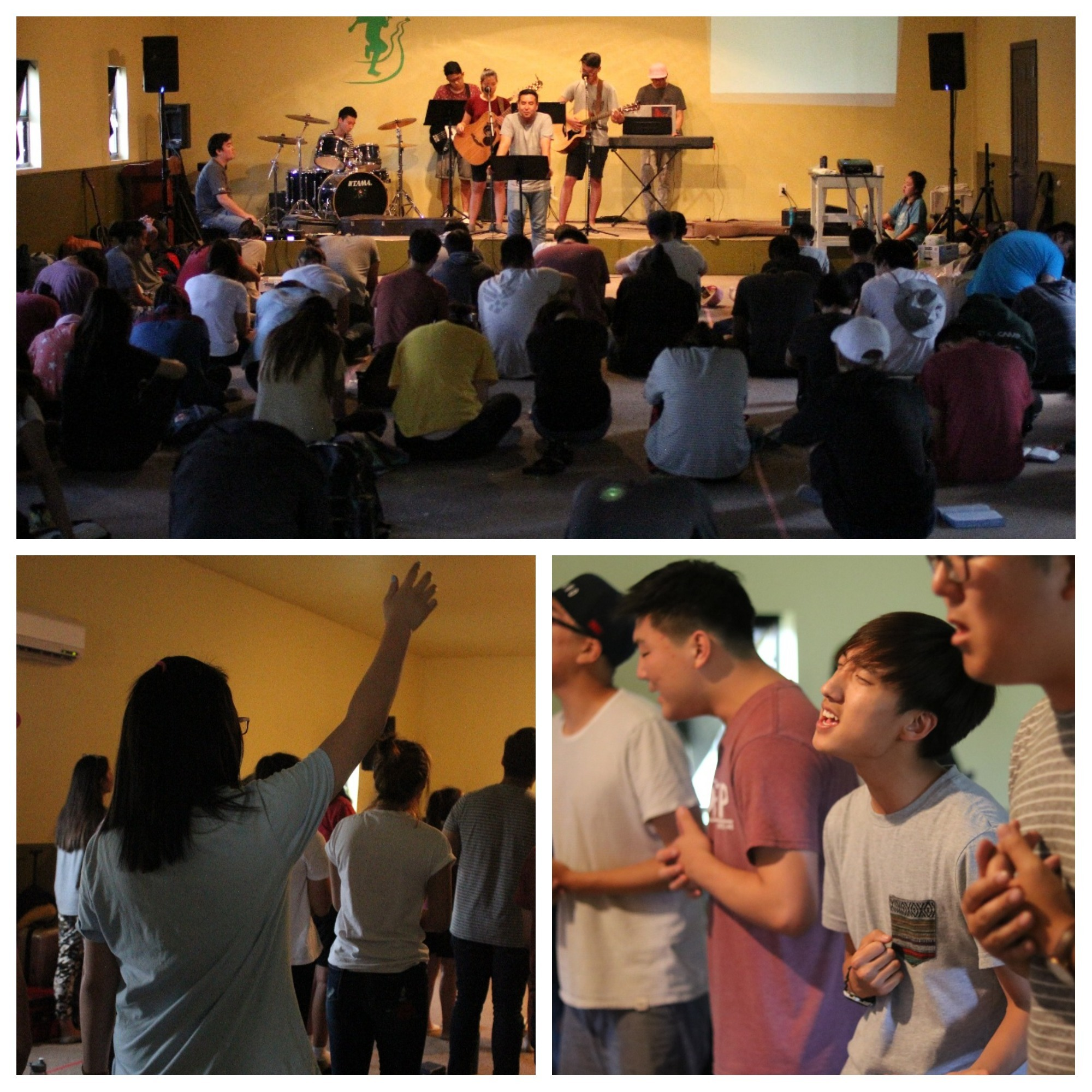"<p>After the afternoon manual labor, we had dinner and had our night session of worship where we learned about ""Convincing Worship."" We committed to being people whose worship would point people to God.</p>"